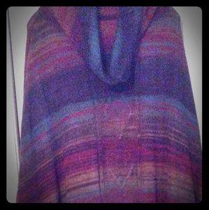 Avenue Multicolor Sweater Poncho-NWT